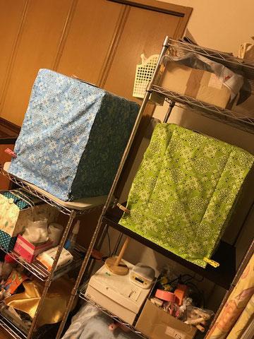 おやすみカバー(お休みカバー、手作り、夏、ヒーター、ケージカバー、遮光カバー、サークルカバー)お客様の写真