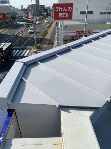 ガルバニウム鋼板屋根改修-2