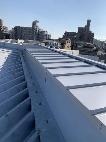 ガルバニウム鋼板の屋根改修-1