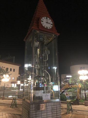 逆瀬川の時計