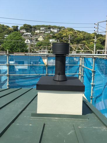 神奈川県大磯町の薪ストーブ