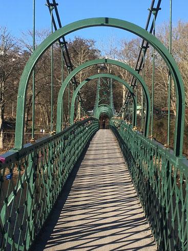 The Iron Suspension Bridge in Pitlochry