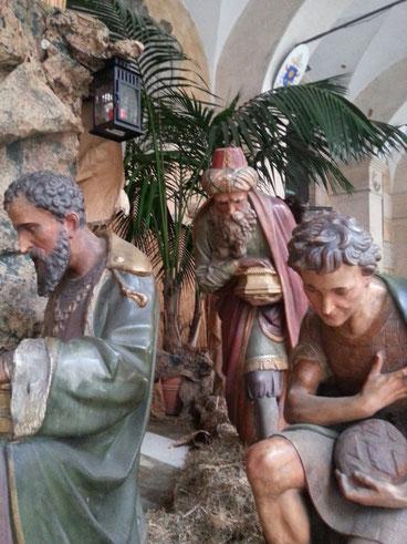 Al presepe della basilica dei SS. Apostoli sono arrivati, oltre ai pastori, anche i Re Magi...questo vuol dire che le vacanze sono proprio finite...
