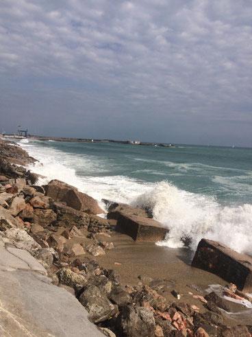 La Méditerranée, en colère, était magnifique