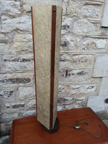 Lampadaire scandinave teck et fibre de verre