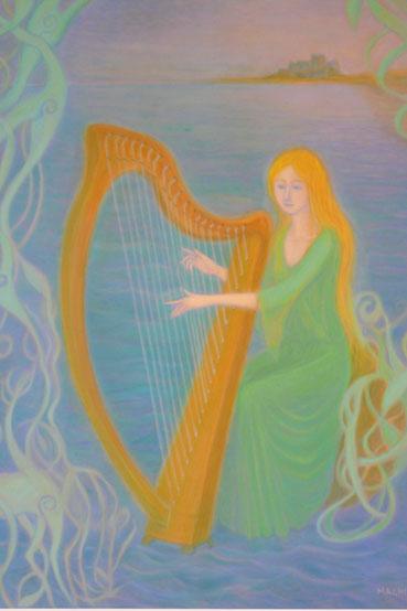 A celtic harper 82.5cmx62.5cm