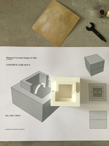 Bespoke Concrete Jewellery Box Design Process By PASiNGA