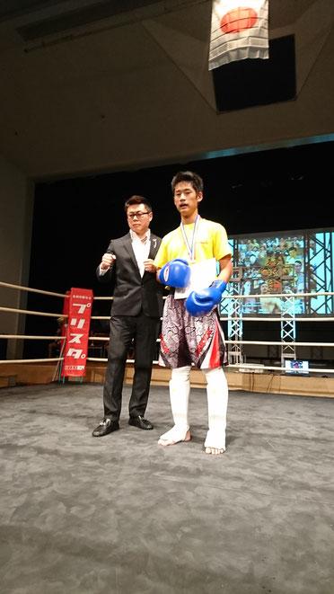 オールジャパン・アマチュアキックボクシング。teamYAMATOルキア選手勝利。