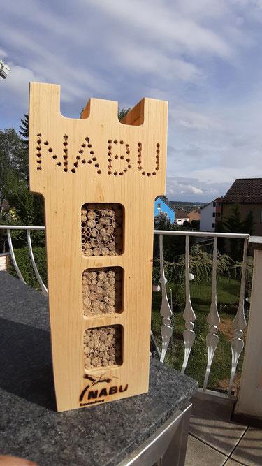 WIldbienenhotel Wildbienenturm Villa Mehlsack NABU Ravensburg