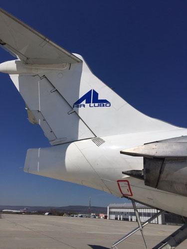 Leitwerk der ersten MD-82 LZ-DEO von ALK Airlines/Courtesy: ALK Airlines