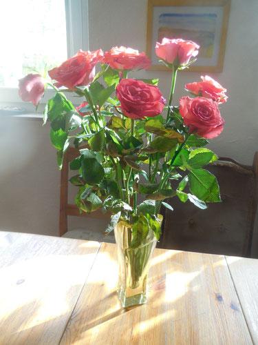 Auch diese Rosen wurden fair gehandelt.