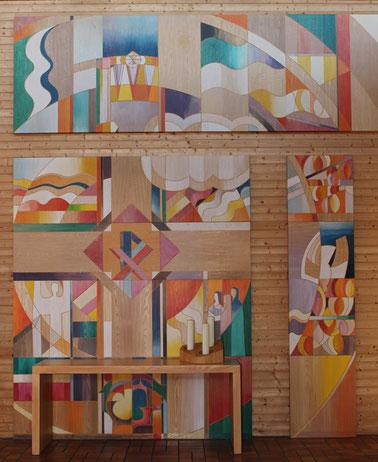 Walter Schimpf (1928 - 2007), Altarbild der Friedenskirche, zum Vergrößern bitte anklicken
