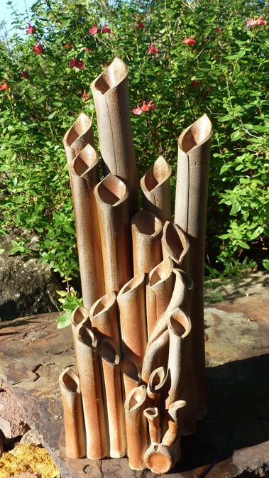 Vase bouquet au détour d' un jardin - Bouquet de Flammes -