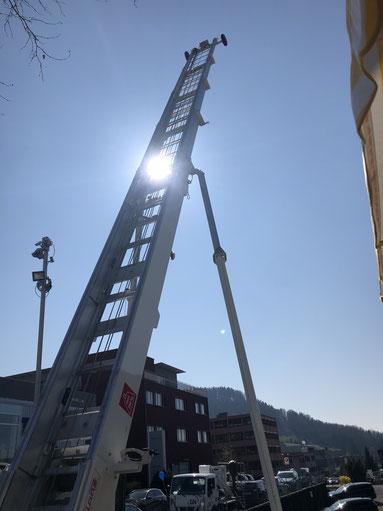 Baulift Mai 2019, Höhe über 21 m