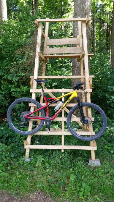 Mein Bike gönnt sich eine kleine Ruhepause...