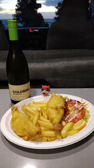 Jean-Mi aime le fish and chips (et le vin aussi...)