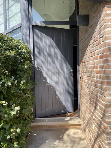 porte entrée RAL 7015