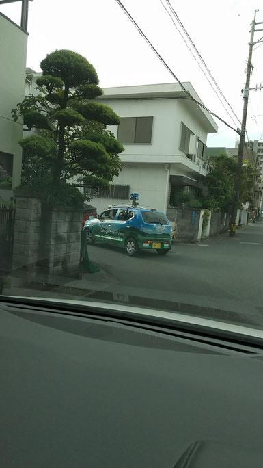 Googleストリートビュー撮影車の写真