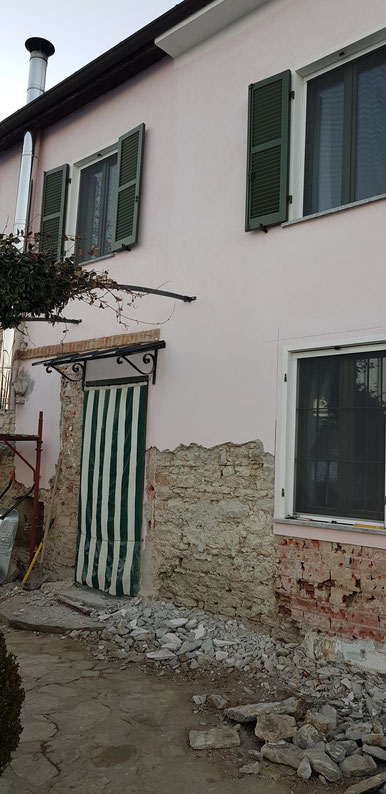 Wie alles andere, was Stevo gemacht hat,  wird auch diese Fassade am Schluss gut aussehen.