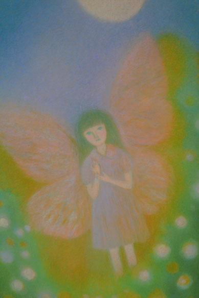 """""""Mondnacht und Brille"""" (Märchen von Mimei Ogawa) 62.5cmx52.5cm"""