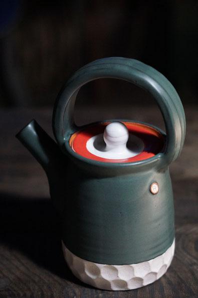 陶芸家 ブログ 土鍋作品 耐熱 直火 空焚き デザインが素敵 コーヒーポット 土瓶 やかん
