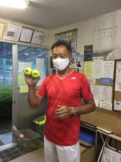 パワフルな神谷プロも、マスクは外せません