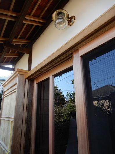 築90余年 古民家再生 玄関 木製建具