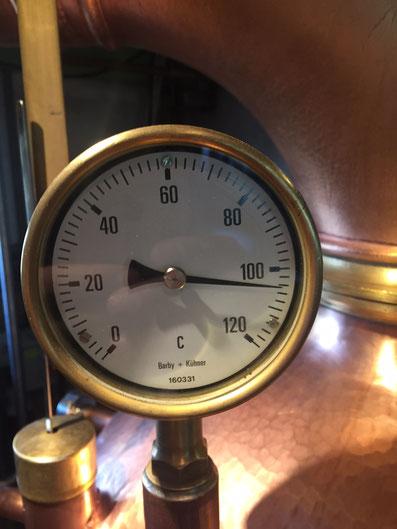 Temperaturkontrolle - Kochen der Würze bei 103°C