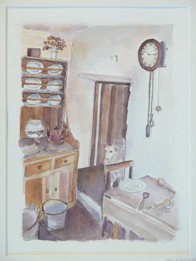 In a farmerhouse of Orkney(sold)32.5cmx26.5cm