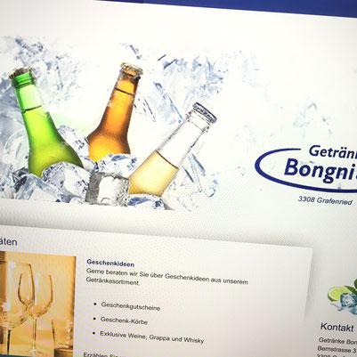 Druckatelier46 Mülchi - Foto Getränke Bongni GmbH - WebDesign - Neugestaltung  Webseite