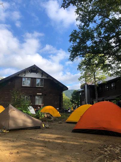 山ノ鼻小屋キャンプ場