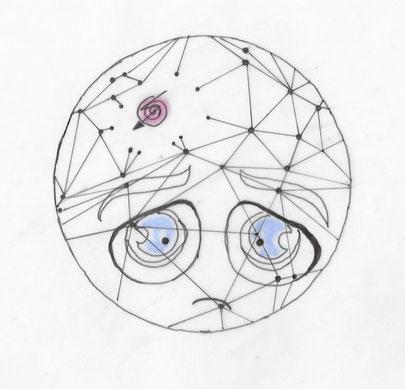 Trauriges Gesicht Problemcluster im Gehirn