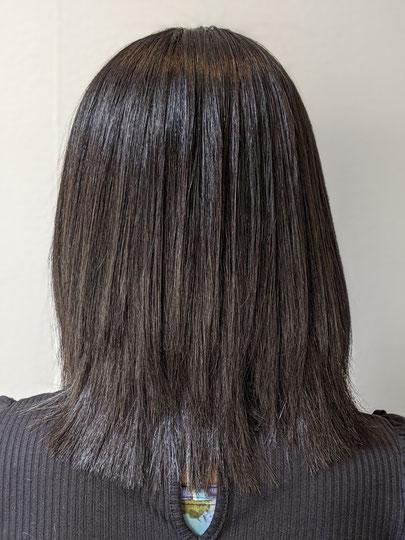 縮毛矯正、サラサラ、艶艶、水分量もたっぷり、