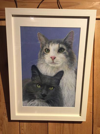 猫 パステル画 ポロン ジュリアン プレゼント