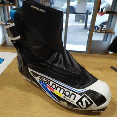 Remplacement du zip sur chaussure de ski de fond, à partir de 20€