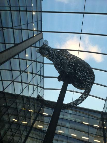 Andy Scott's leopard sculpture in Aberdeen