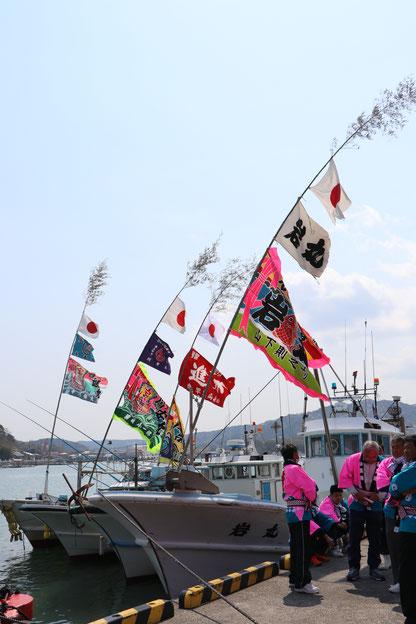 漁船と和具の人たち