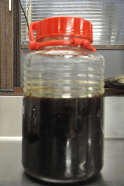 3年醤油。津久井在来大豆のもの。すどう農園
