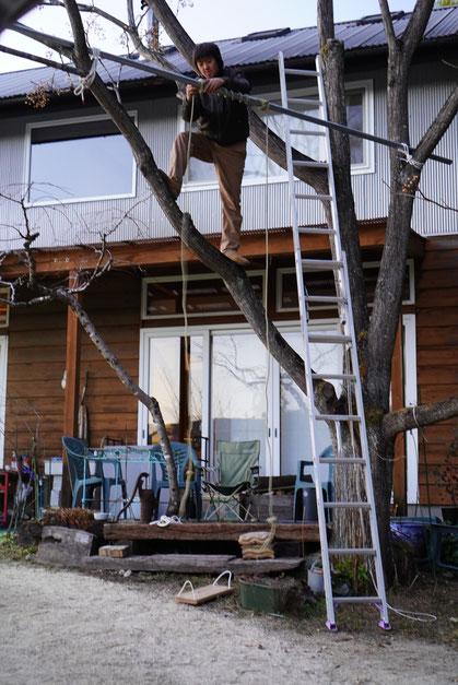 陶芸家 ブログ 焼き物 陶芸作品 茨城県笠間市 ブランコ 手作り 正月 木工 遊具 子供の遊び