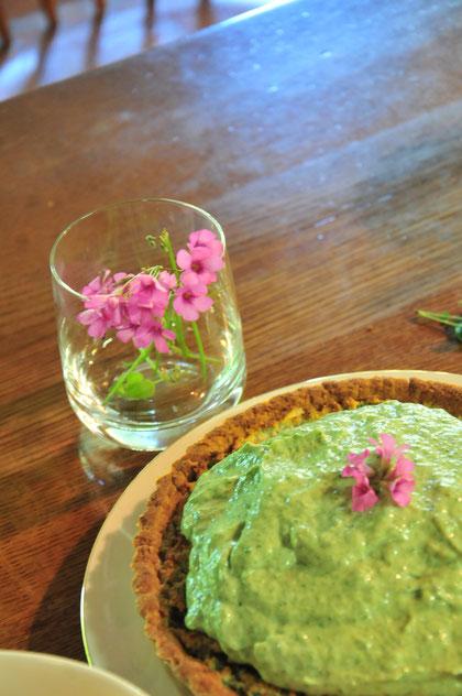 無農薬自然栽培のヨモギを使ったパイ