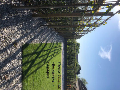 aménagement extérieur complet pavage plantation clôture muret entreprise paysagiste