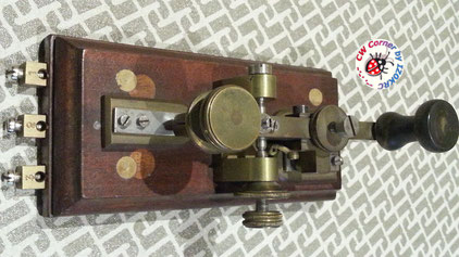 "Hasler Telegraph key  for Duplex morse system ""in line"""