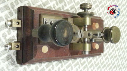 "Hasler Telegraph key  for Duplex morse system "" ""in line"""""