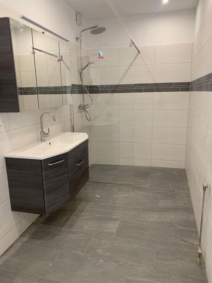 Badezimmer nach Sanierung