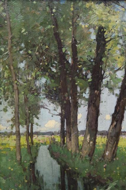 te_koop_aangeboden_een_schilderij_van_paul_bodifee_1866-1938_verwant_aan_de_haagse_school