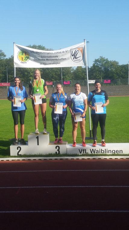 Siegerehrung beim RKS-Dreikampf der Juniorinnen!