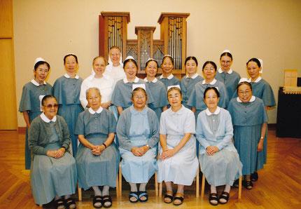 2004年に母の家ベテルで行われた全日本ディアコニッセ会の模様。