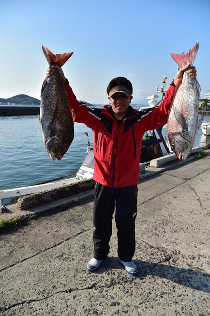 2015 春 第2回北部九州真鯛トーナメント 総合優勝者                総重量 7枚 20,15kg