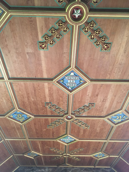 Restored ceiling in Dunnottar Castle