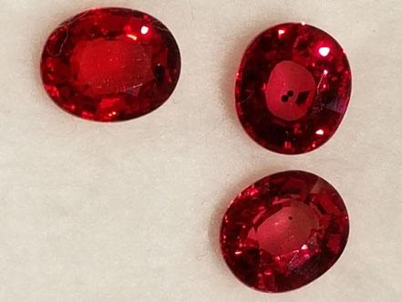 Rubine in toller Qualität und verschiedenen Varianten